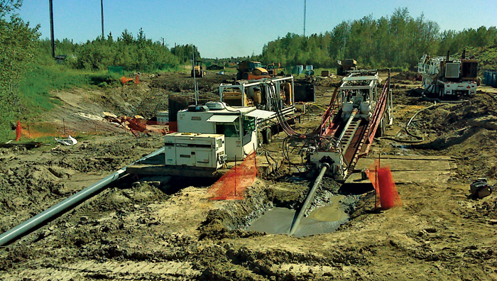 HDD and Pipe Ramming Used to Install Water and Wastewater Lines in Wood Buffalo