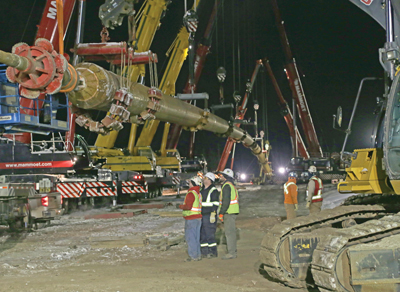 Michels Canada Co. recently completed a challenging 7,200-ft (2,195-m) bore for the installation of a 42-in. pipe under the Athabasca River near Fort MacKay, Alberta.