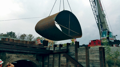After evaluating all known options for repair of the structure, INDOT determined that InfraSteel's smooth-wall carbon steel liner would provide a cost-effective and environmental-friendly repair.