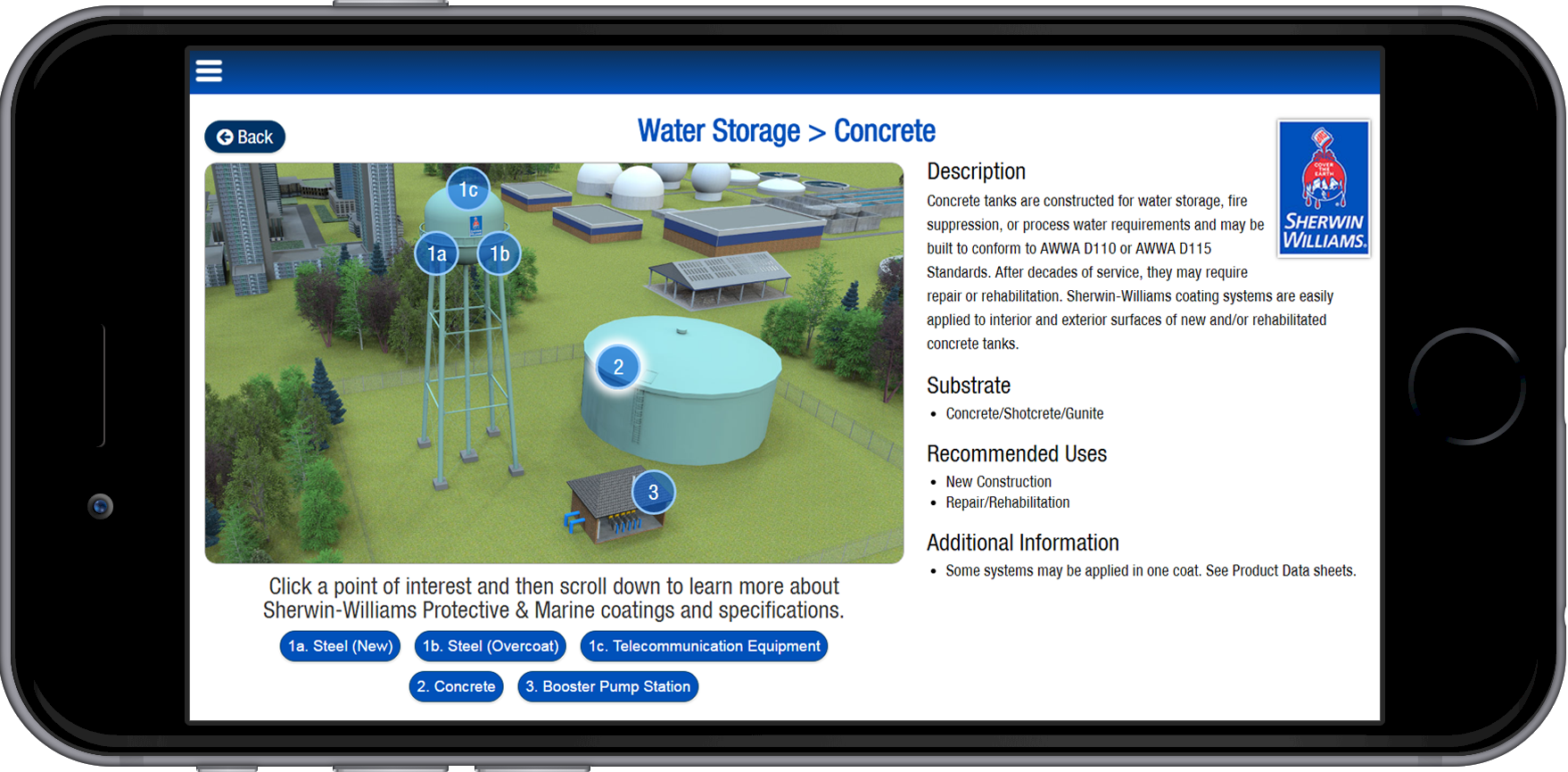 Sherwin Williams Water Wastewater App