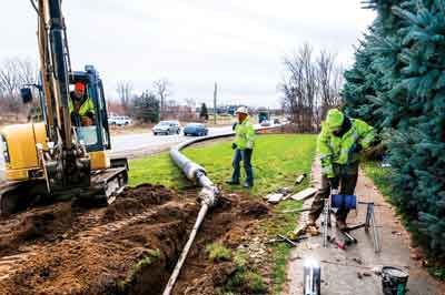 This was a publicly bid contract with the specification calling for HDPE SDR 11 pipe that met AWWA C906.