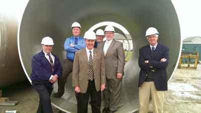 The NTH team (l-r): (front) Abdulnasser Almadhoun, P.E., Charles Roarty, P.E., Lawrence Gilbert, P.E., (middle) Jason Edberg, P.E., Keith Swaffar. P.E., and (back) Harry Price, P.E.