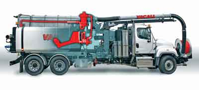 Both Vactor and Vacall estimate that running without the recycler, crews have to stop every 20 minutes to refill a 1,500-gal tank and the refilling process can take anywhere from 30 minutes to two hours depending on the location of a fresh water source.