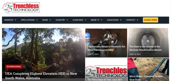 Trenchless Technology Homepage