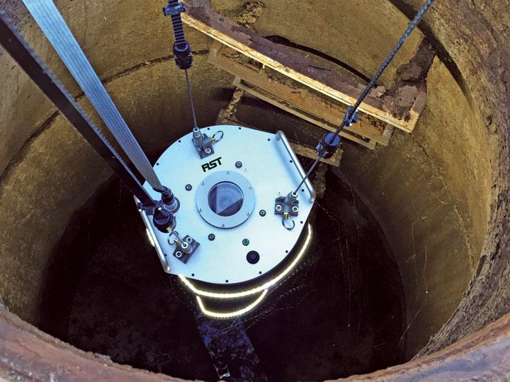 Helix in manhole