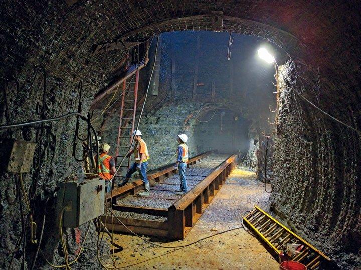 Tunnelling Through a Subterranean Valley