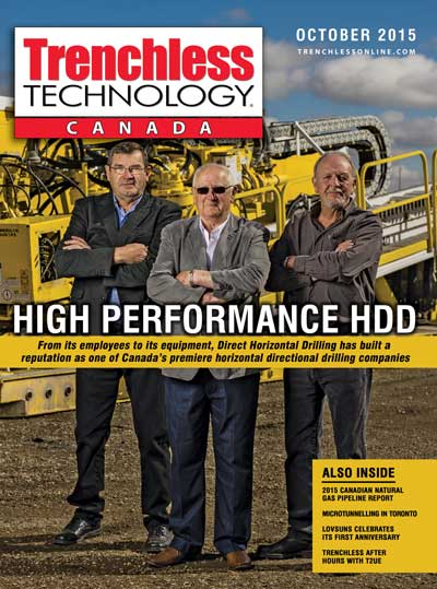2015 cover of Trenchless Technology Canada