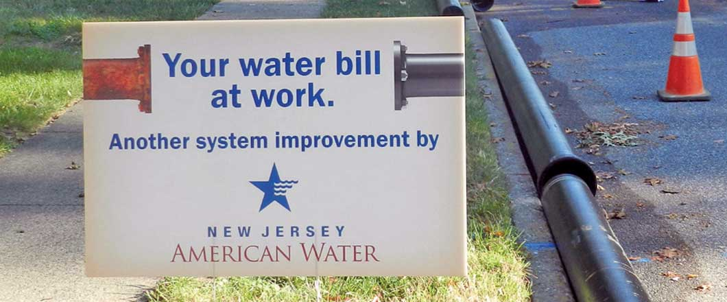 New Jersey American Water sign