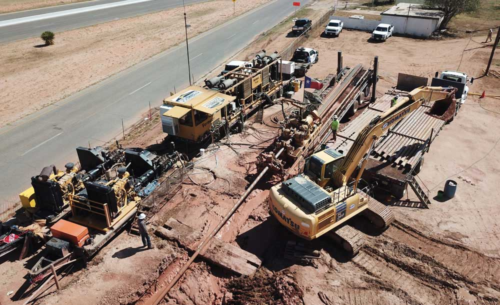 Hard Rock Directional Drilling installed a total of 8,414 ft of 30-in. diameter steel pip
