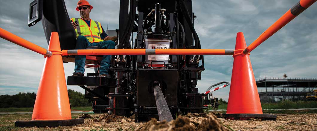 Ditch Witch hdd rig close-up