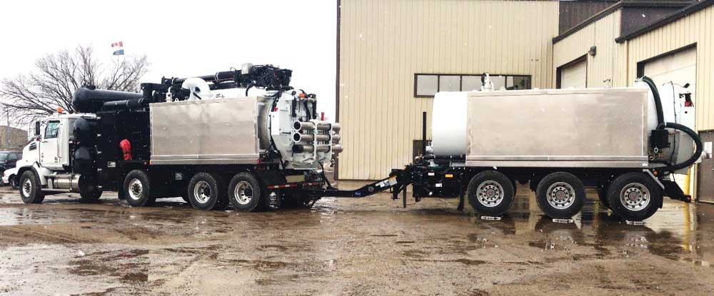 the TRUVAC Wolf or TRUVAC HXX, paired with a hydrovac support trailer