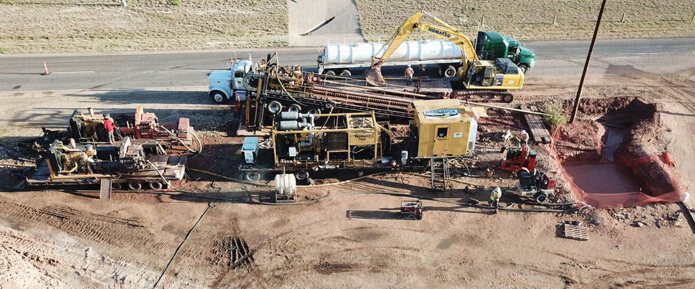 trenchless worksite
