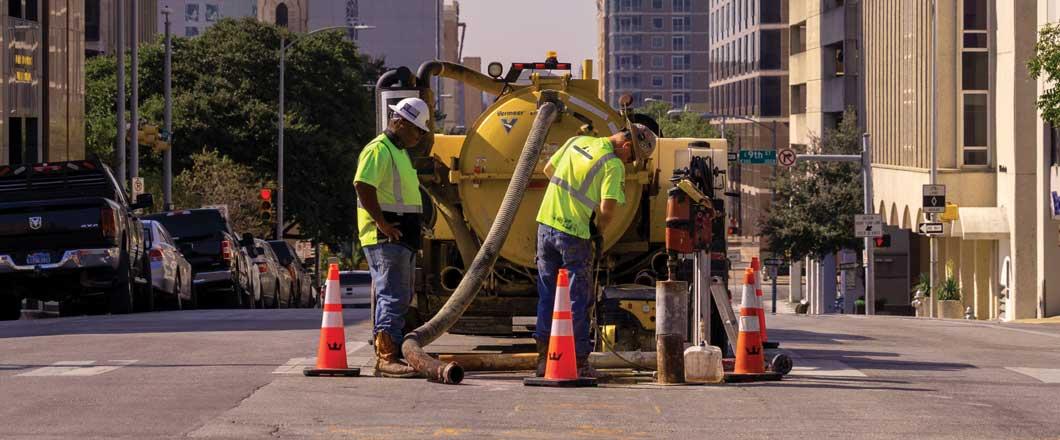 Vermeer equipment on Austin jobsite